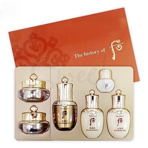 【韩国 The History of Whoo】 Cheongidan Radiant 6pcs Special Gift Set 韩国后 天气丹中样 六件套盒 -  - 1@ - Sweet Living