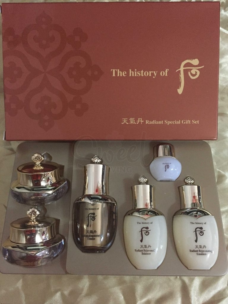 【韩国 The History of Whoo】 Cheongidan Radiant 6pcs Special Gift Set 韩国后 天气丹中样 六件套盒 -  - 3@ - Sweet Living